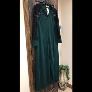 Abaya Islamic Dress Plus Size XL - 2XL Green NEWNWT for sale